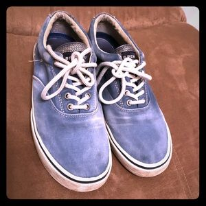 WASHED BLUE SPERRY TOP-SIDER HALYARD SNEAKER